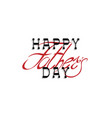 happy fathers day calligraphy handwritten vector image vector image
