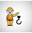 hook man worker construction design icon vector image vector image