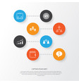 human icons set collection of increase goal vector image vector image