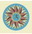 Human leaf yoga mandala vector image vector image