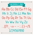 Incomible one classic style font vector image vector image
