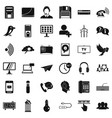 internet communication icons set simple style vector image vector image
