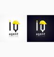 iq agent vector image vector image