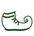 isolated leprechaun shoe icon patrick day vector image