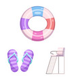 isolated object of pool and swimming logo vector image