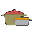 kitchen pot cartoon saucepan of to cooking vector image