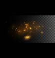 luminous fire stars vector image