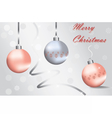 Merry Christmas Sparkling baubles vector image vector image