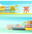 Miami Beach Horizontal Banners vector image