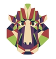 Monkey head triangular icon - low poly vector image vector image