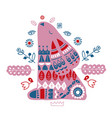 nordic ornaments folk art pattern scandinavian vector image vector image