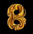 number 8 in style liquid gold vector image vector image