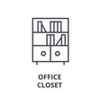 office closet line icon outline sign linear vector image