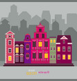 old fashioned europe buildings vector image