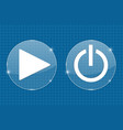 play and standby transparent shiny buttons on vector image