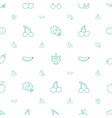 ripe icons pattern seamless white background vector image vector image
