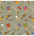 Seamless Pattern with Brushes Paints and vector image vector image