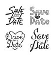 set hand drawn typography design element for vector image