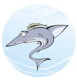 shark whith remora vector image vector image