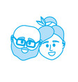 silhouette couple head together with hairstyle