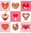 sweets logo icons vector image vector image