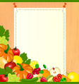 Thanksgiving menu Paper with fruits and vegetables