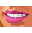 tooth and lips vector image