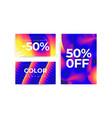 universal gradient geometric posters set vector image