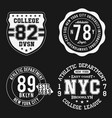 vintage badges set athletic sport typography for vector image vector image