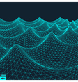 Water Surface Wavy Grid Background vector image vector image