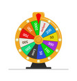wheel of fortune lottery luck casino vector image vector image