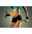 Young fitness woman vector image vector image