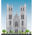Cathedral of St Michael and St Gudula vector image