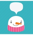 snowman with speech bubble vector image