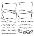 free hand brush design element graphic source vector image