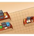 Empty office vector image