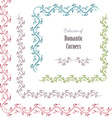 floral set corners for your design vector image