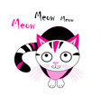 a funny cat graphic vector image vector image