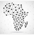 abstract polygonal africa map with dots and lines vector image vector image