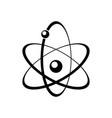 atomic energy symbol black icon vector image vector image