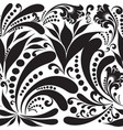black and white paisley seamless pattern vector image