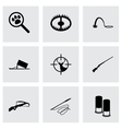 black hunting icons set vector image vector image