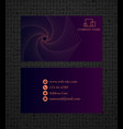 business card concept bussines card vector image