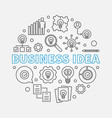business idea circular in vector image