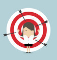 businesswoman on archery targets vector image vector image