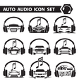 car radio icons set vector image