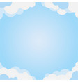 cloud frame with blue sky vector image