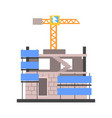 construction of a modern building vector image vector image
