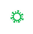 coronavirus icon green simple symbol virus and vector image