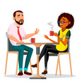 couple in restaurant man and woman vector image vector image